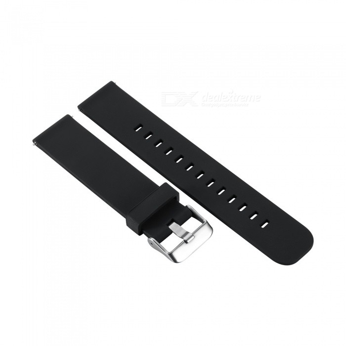 Universal Silica Gel Watchband 20mm for Samsung Gear Sport /S2 classic/MOTO2 42MM - BlackWearable Device Accessories<br>ColorBlackModelN/AQuantity1 DX.PCM.Model.AttributeModel.UnitMaterialSilica gel + alloyPacking List1 x Watchband 125mm1 x Watchband 85mm<br>