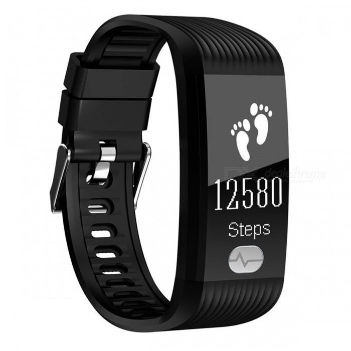 K9 IP67 Waterproof Dual Core Sports Bluetooth Smart Bracelet w/ Step Monitoring, Heart Rate, Blood Pressure ECG - BlackSmart Bracelets<br>ColorBlackModelK9Quantity1 DX.PCM.Model.AttributeModel.UnitMaterialTPUWater-proofIP67Bluetooth VersionBluetooth V4.0Touch Screen TypeOthers,OLEDOperating SystemAndroid 4.4,iOSCompatible OSAndroid IOSBattery Capacity80 DX.PCM.Model.AttributeModel.UnitBattery TypeLi-ion batteryStandby Time1 DX.PCM.Model.AttributeModel.UnitPacking List1 x Smart bracelet1 x User usage manual1 x Charger<br>