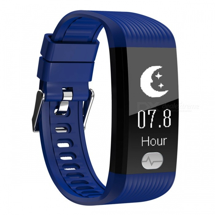 K9 IP67 Waterproof Dual Core Sports Bluetooth Smart Bracelet w/ Step Monitoring, Heart Rate, Blood Pressure ECG - BlueSmart Bracelets<br>ColorBlueModelK9Quantity1 pieceMaterialTPUWater-proofIP67Bluetooth VersionBluetooth V4.0Touch Screen TypeOthers,OLEDOperating SystemAndroid 4.4,iOSCompatible OSAndroid IOSBattery Capacity80 mAhBattery TypeLi-ion batteryStandby Time1 monthPacking List1 x Smart bracelet1 x User usage manual1 x Charger<br>