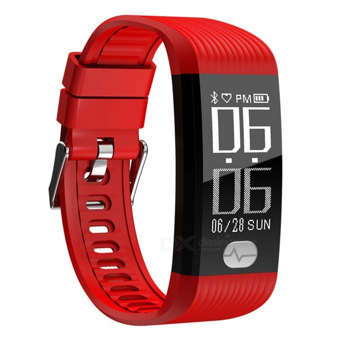 K9 IP67 Waterproof Dual Core Sports Bluetooth Smart Bracelet w/ Step Monitoring, Heart Rate, Blood Pressure ECG - RedSmart Bracelets<br>ColorRedModelK9Quantity1 pieceMaterialTPUWater-proofIP67Bluetooth VersionBluetooth V4.0Touch Screen TypeOthers,OLEDOperating SystemAndroid 4.4,iOSCompatible OSAndroid IOSBattery Capacity80 mAhBattery TypeLi-ion batteryStandby Time1 monthPacking List1 x Smart bracelet1 x User usage manual1 x Charger<br>