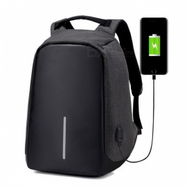 Multifunction Men's Laptop Backpack with USB Charging Port for Teenager, Fashion Leisure Casual Anti-Thief Travel Backpack Bag black