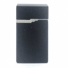 High-End Ultra Thin Gas Inflatable Windproof Lighter - Black