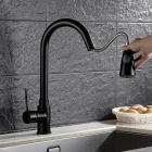 Buy Brass Pull-out/Pull-down 360 Degree Rotatable Ceramic Valve Single Handle One-Hole Kitchen Faucet