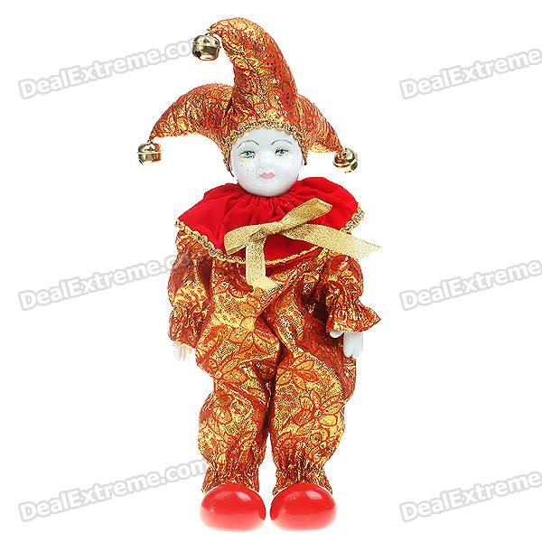 Triangel Doll Came From Love Valentines Gift - Red + Golden