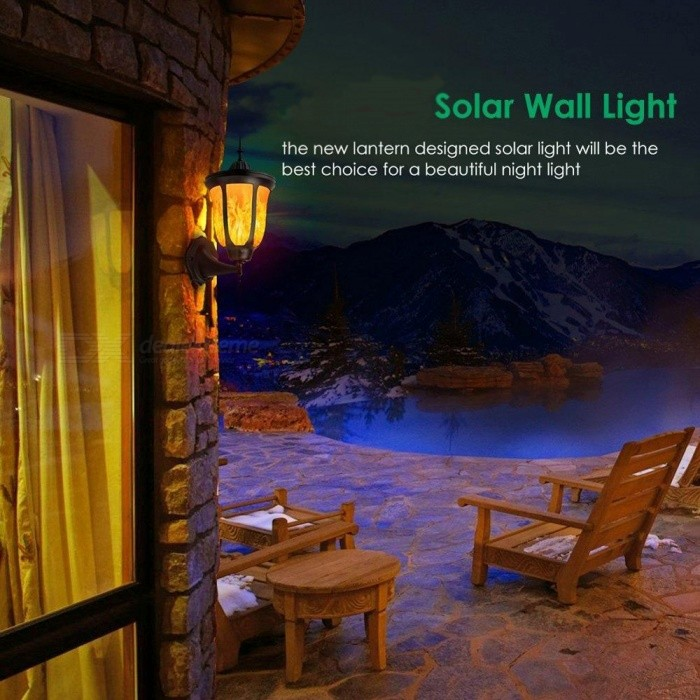 Porch Light Flickers When Off: P-TOP Solar Powered Flickering 96-LED Wall Light Outdoor