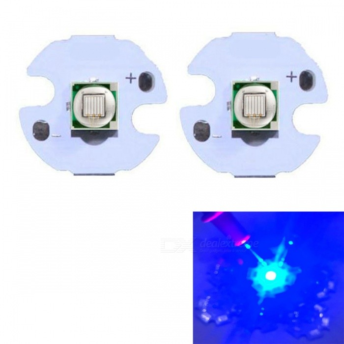 JRLED Super Bright 16mm PCB 10W Blue Light 5050 SMD LED Bead, DC3-3.5V (2 PCS)Leds<br>Emitting ColorBlueSize16mmModelJR-5050-10WMaterialAluminium alloy+LEDQuantity2 DX.PCM.Model.AttributeModel.UnitPower10 DX.PCM.Model.AttributeModel.UnitRate VoltageDC3-3.5VWorking Current0-2500 DX.PCM.Model.AttributeModel.UnitDimmableYesEmitter Type5050 SMD LEDTotal Emitters1Beam Angle120 DX.PCM.Model.AttributeModel.UnitColor Temperature12000K,Others,N/ATheoretical Lumens400 DX.PCM.Model.AttributeModel.UnitActual Lumens300 DX.PCM.Model.AttributeModel.UnitWavelengthN/AConnector TypeOthers,Solder jointCertificationCE ROHSOther FeaturesThis product adopts Taiwan large single crystal chip, packaged into 5050 types of beads, beads size and XML size.Packing List2 x 10W LED Beads<br>