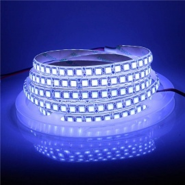 Super Bright Non-waterproof 5m 120-LED SMD5054 LED Strip Tape Light, DC 12V - Ice Blue Light