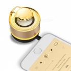 Mi3 portable mini 3.5mm aux sound box speaker for mobile phone - golden