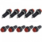 Rxdz 250v 3a 2 terminal spst on/off momentary red push button switch (50 pcs)