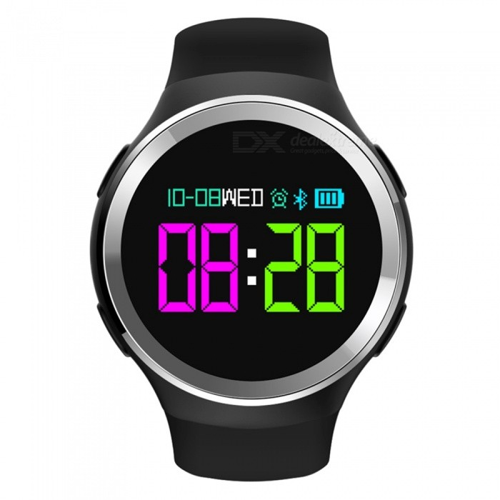 N69 0.95 OLED Screen Smart Watch Bracelet Fitness Tracker with Pedometer, Heart Rate Blood Pressure Sleep Monitoring - BlackSmart Bracelets<br>ColorBlackQuantity1 DX.PCM.Model.AttributeModel.UnitMaterialABSShade Of ColorBlackWater-proofIP68Bluetooth VersionBluetooth V4.0Touch Screen TypeYesCompatible OSAndroid system 4.4 version or above, iOS system 8.0 version or above, Support Buetooth with 4.0 versionBattery Capacity250 DX.PCM.Model.AttributeModel.UnitBattery TypeLi-polymer batteryStandby Time5-7 DX.PCM.Model.AttributeModel.UnitPacking List1 x Smartwatch1 x English/Chinese Manual1 x Charging cable<br>