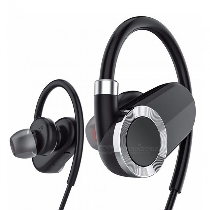 Stylish Ear Hook Style Wireless Bluetooth V4.1 Earphones Sports IPX4 Sweatproof Headphones - BlackHeadphones<br>ColorBlackBrandOthers,NOMaterialABSQuantity1 DX.PCM.Model.AttributeModel.UnitConnectionBluetoothBluetooth VersionBluetooth V4.1Operating Range10MConnects Two Phones SimultaneouslyYesHeadphone StyleUnilateral,BilateralWaterproof LevelIPX4Applicable ProductsUniversal,IPHONE 7,IPHONE 7 PLUSHeadphone FeaturesHiFi,English Voice Prompts,Phone Control,Noise-Canceling,With Microphone,Lightweight,For Sports &amp; ExerciseSupport Memory CardNoSupport Apt-XNoPacking List1 x Bluetooth Headphones   1 x Micro-USB Charging Cable 1 x User Guide<br>