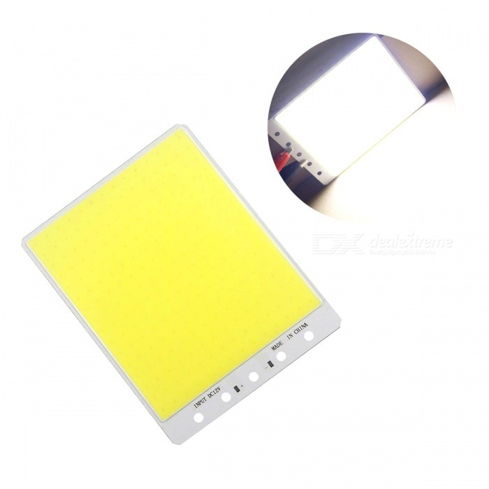 JRLED 140 x 110mm 50W 224-COB Cold White LED Module (DC 12V )Leds<br>Form  ColorWhite + YellowColor BINCold WhiteForm  ColorYellowColor BINCold WhiteModelN/AMaterialAluminum alloy + silica gelQuantity1 DX.PCM.Model.AttributeModel.UnitPower50 DX.PCM.Model.AttributeModel.UnitRate VoltageDC12VWorking Current0-4 DX.PCM.Model.AttributeModel.UnitDimmableYesEmitter TypeCOBTotal Emitters224Beam Angle140 DX.PCM.Model.AttributeModel.UnitColor Temperature6500KTheoretical Lumens5000 DX.PCM.Model.AttributeModel.UnitActual Lumens4000 DX.PCM.Model.AttributeModel.UnitWavelengthN/AConnector TypeOthers,ConnectionCertificationCE ROHSPacking List1 x DC12V COB LED Module<br>