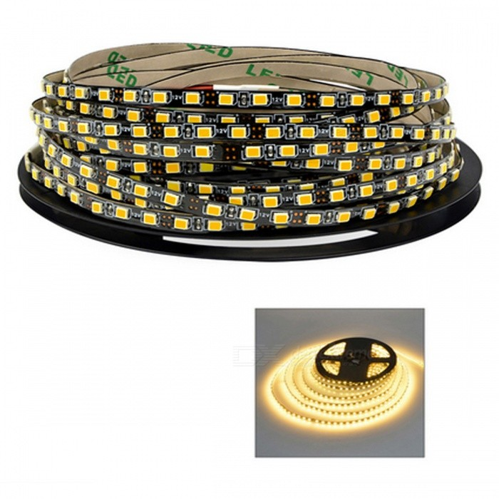 Super Bright Non-waterproof 5m 120-LED SMD2835 LED Strip Tape Light, DC 12V - Warm White LightOther SMD Strips<br>ColorWarm White LightMaterialFPCQuantity1 DX.PCM.Model.AttributeModel.UnitPower72WRated VoltageDC 12 DX.PCM.Model.AttributeModel.UnitChip BrandCreeEmitter TypeOthers,2835Total Emitters120Color Temperature2800-3500KWavelength550Actual Lumens1200 DX.PCM.Model.AttributeModel.UnitPower AdapterOthersPacking List1 Roll x 5m 2835 Led strip<br>