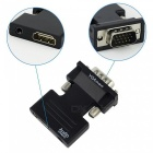 HDMI Female to VGA Male Converter with Audio Adapter - Black