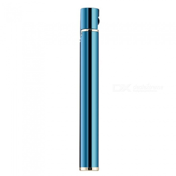 HONEST Portable Cigarette-Shaped Flame Lighter, Refillable Butane Gas Cigar Lighter for Men - BlueButane Jet Lighters<br>ColorBlueModelN/AMaterialAlloyQuantity1 pieceShade Of ColorBlueTypeGasWindproofNoFuelButanePacking List1 x Jet Lighter1 x Gift Box<br>