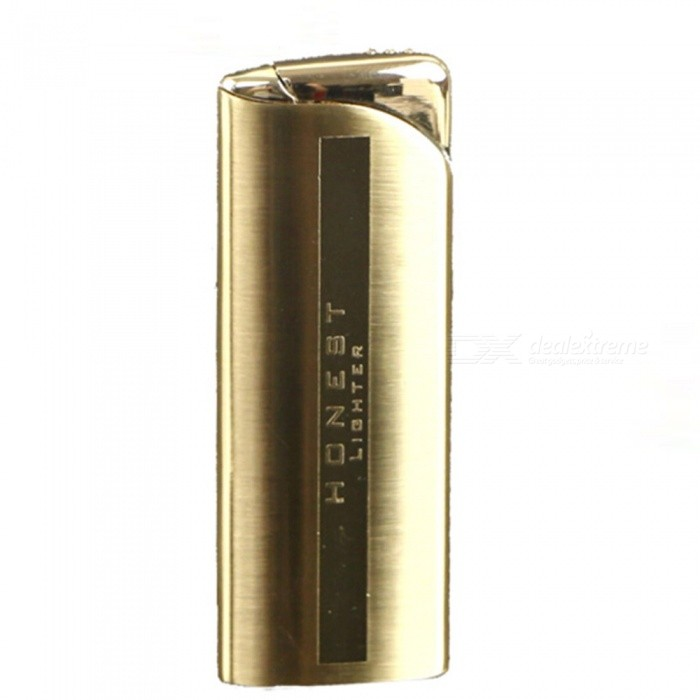 HONEST Ultra Slim Torch Jet Lighter, Windproof Gas Lighter - GoldenButane Jet Lighters<br>ColorGoldenModelN/AMaterialAlloyQuantity1 pieceShade Of ColorGoldTypeGasWindproofYesFuelButanePacking List1 x Jet Lighter1 x Gift Box<br>