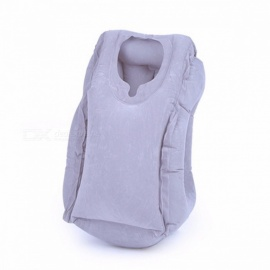 50*35cm Inflatable Travel Pillow, Airplane Neck Chin Head Support, Innovative Travel Sleeping Pillow Train Cushion 50x35cm/Gray