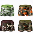 4Pcs/ Lot Camouflage Printed Male Boxer Shorts Panties, Breathable Comfortable Letter Underwear for Men  XXXL/Multicolored