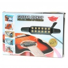 Universal 12-Holes Guitar Pickup - Black + Silver (290-Cable Length)