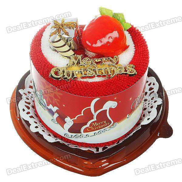 Creative Sweet Cake Shaped Towel Christmas Ornament - Color/Style Assorted
