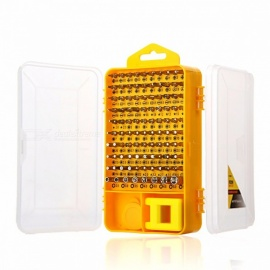 Betals Brand 108-in-1 Screwdriver Set, Multi-function Essential Digital Mobile Phone Computer Repair Tool Kit yelow