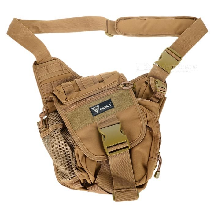 High-Quality Military Nylon Shoulder Bag - Coyote Brown