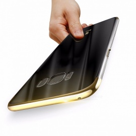 Baseus Ultra Thin Lightweight Luxury Plating Hard PC Plastic Phone Case, Back Cover for Samsung Galaxy For S8/Gold