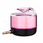 Mi3 portable mini 3.5mm aux sound box speaker for mobile phone - pink