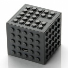 Creative building block style toy bluetooth speaker - grey