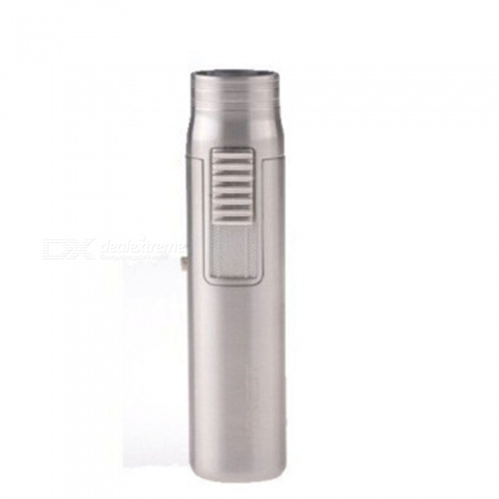 HONEST Mini Torch Jet Lighter, Windproof Gas Lighter - SilverButane Jet Lighters<br>ColorSilverModelN/AMaterialAlloyQuantity1 DX.PCM.Model.AttributeModel.UnitShade Of ColorSilverTypeGasWindproofYesFuelButanePacking List1 x Jet Lighter1 x Gift Box<br>
