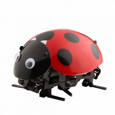RC Remote Control Simulate Ladybug Beetle Electronic Toy, DIY Kids Birthday Christmas Gift for Children