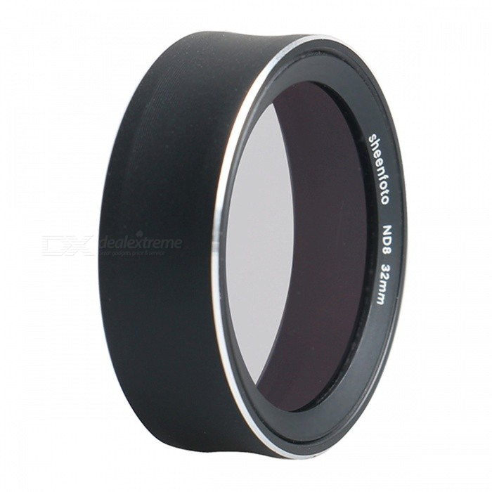 Sheenfoto ND8 Filter for Xiaomi Mijia Sports CameraLenses Accessories<br>ColorBlackModel-ModelND8MaterialAluminum alloy + optical glassQuantity1 DX.PCM.Model.AttributeModel.UnitPacking List1 x ND Filter<br>