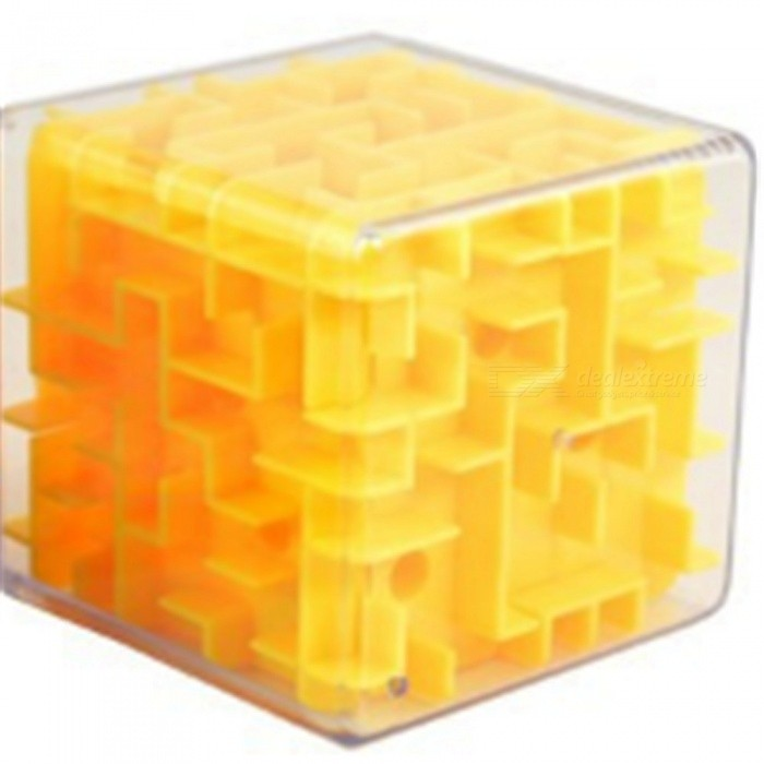 Fancy Intelligence 3D Rubiks Cube Transparent Maze Ball Educational Toy for KidsEducational Toys<br>ColorYellowMaterialABSQuantity1 pieceSuitable Age 3-4 years,5-7 years,8-11 yearsPacking List1 x Cube Toy<br>