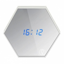 P-TOP Multi-Function LED Make Up Mirror Digital Alarm Clock w/ Night Light, Temperature Display