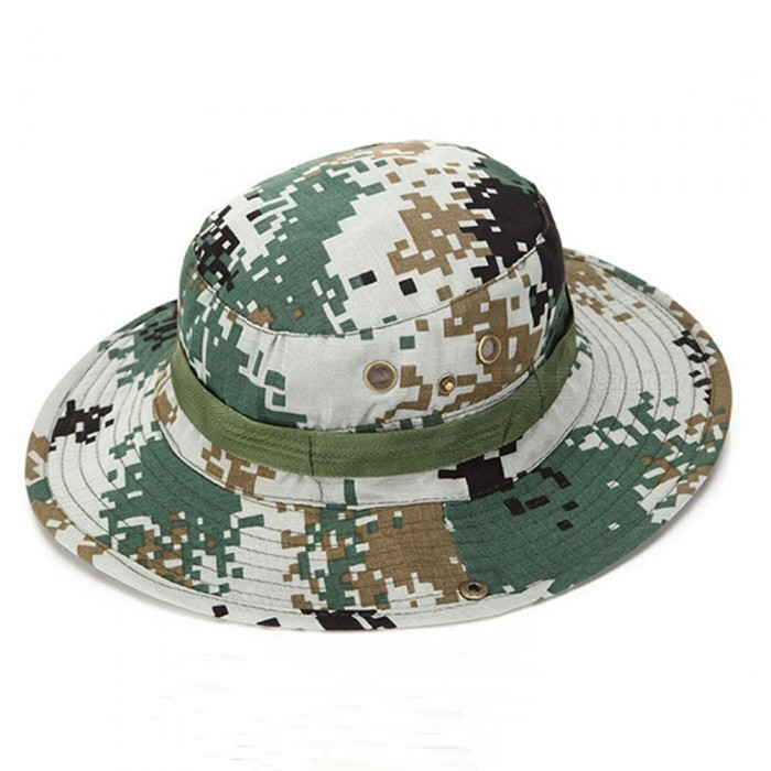 AoTu Sun Protection Casual Style Round Fishermen Hat, Camouflage Fishing Cap for OutdoorsCaps and Hats<br>ColorCamouflageModelAT8705Quantity1 setShade Of ColorMulti-colorMaterialFiber + cottonGenderMenSuitable forAdultsStyleCasualStrap TypeNoSeasonsFour SeasonsHead Circumference58 cmPacking List1 x Hat<br>