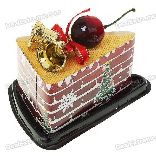 Creative Cake Shaped Towel Christmas Ornaments - Color Assorted
