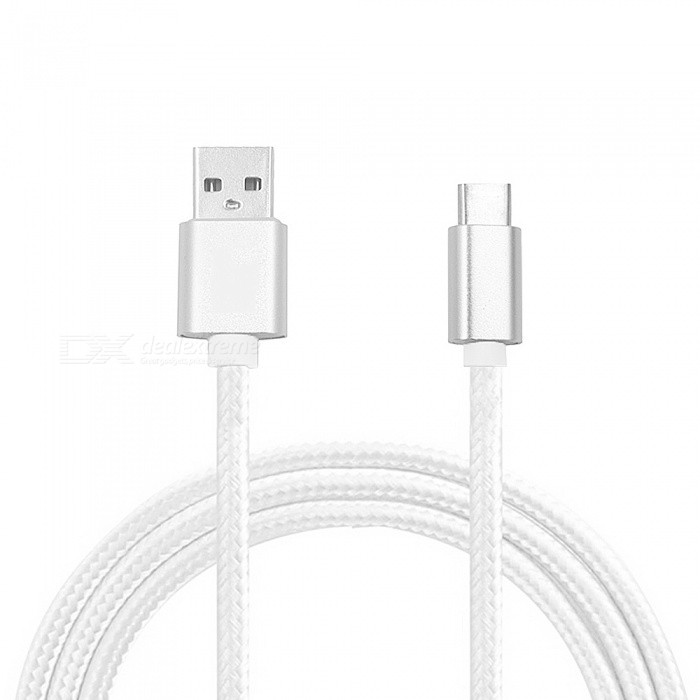 Mini Smile 300CM Nylon Woven Quick Charge USB 3.1 Type-C to USB Male Charging Data Transfer Cable - WhiteCables<br>ColorWhiteModelTY-3MMaterialNylon WovenQuantity1 DX.PCM.Model.AttributeModel.UnitCompatible ModelsUniversalConnectorType-C ,USBPacking List1 x Cable<br>