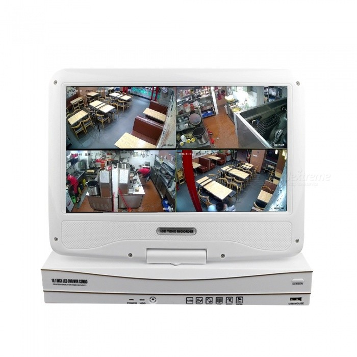 """4 Channel 10.1"""" LCD NVR with 4PCS 1080P Day Night 2MP ..."""