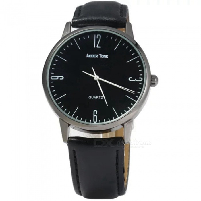 AIBBER TONE Stylish Casual PU Leather Band Wrist Watch - BlackQuartz Watches<br>ColorBlackQuantity1 DX.PCM.Model.AttributeModel.UnitShade Of ColorBlackCasing MaterialAlloyWristband MaterialPU LeatherSuitable forAdultsGenderUnisexStyleWrist WatchTypeFashion watchesDisplayAnalogMovementQuartzDisplay Format12 hour formatDial Diameter4 DX.PCM.Model.AttributeModel.UnitDial Thickness0.8 DX.PCM.Model.AttributeModel.UnitWristband Length25 DX.PCM.Model.AttributeModel.UnitBand Width2 DX.PCM.Model.AttributeModel.UnitBattery1 x SR 626SWPacking List1 x Watch<br>