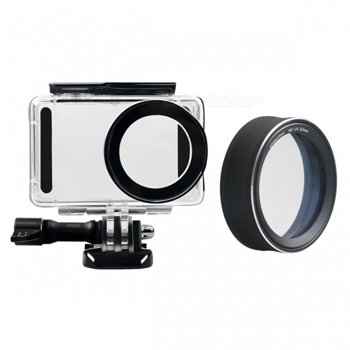 Waterproof Underwater Housing Shell Case with MCUV Protective Lens Cover for Xiaomi MiJia Sports Camera