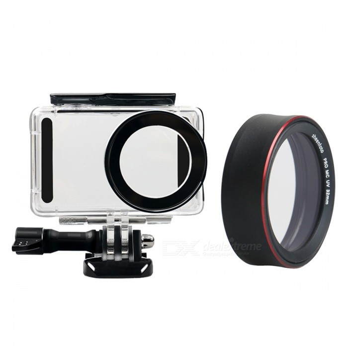 Waterproof Underwater Housing Shell Case with PRO-MCUV Protective Lens Cover for Xiaomi MiJia Sports Camera