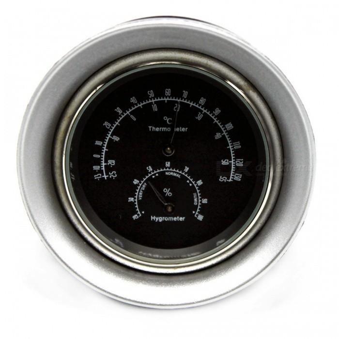 IZTOSS D2618 2-in-1 Car Quartz Watch Type Thermometer Hygrometer with Black BacklightOther Interior<br>ColorBlackModelD2618Quantity1 DX.PCM.Model.AttributeModel.UnitMaterialABS + steelPacking List1 x Temperature hygrometer<br>
