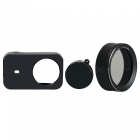 Silicone Camera Case + MC-CPL Protective Lens Cover for Xiaomi MiJia Sports Camera - Black