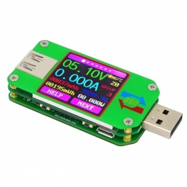 RD UM24C USB 2.0 Color LCD Display Tester Voltmeter Voltage Current Meter Amperimetro Battery Charge Measure UM24