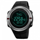 SKMEI 1294 50m Waterproof Men's Digital Sports Watch With Compass - Black + Red