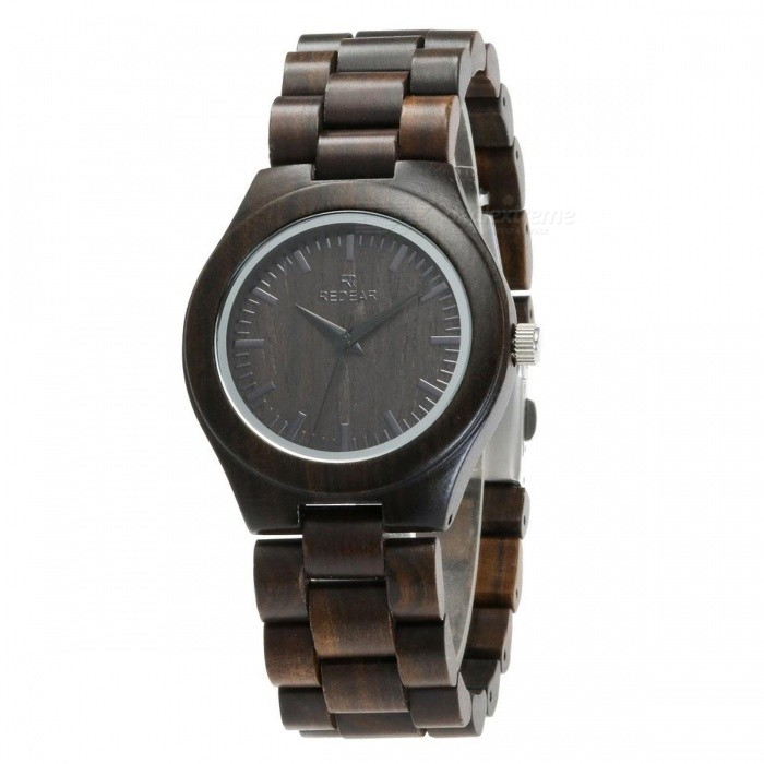 Redear 1473 Unique Black Wood Women Wrist Watch with Wooden StrapQuartz Watches<br>Model1473Model1473Quantity1 DX.PCM.Model.AttributeModel.UnitShade Of ColorBlackCasing MaterialEbonyWristband MaterialEbonySuitable forAdultsGenderWomenStyleWrist WatchTypeFashion watchesDisplayAnalog + DigitalMovementQuartzDisplay Format12 hour formatWater ResistantFor daily wear. Suitable for everyday use. Wearable while water is being splashed but not under any pressure.Dial Diameter4 DX.PCM.Model.AttributeModel.UnitDial Thickness1.1 DX.PCM.Model.AttributeModel.UnitWristband Length23 DX.PCM.Model.AttributeModel.UnitBand Width2 DX.PCM.Model.AttributeModel.UnitBatterySony626Packing List1 x Watch1 x Box1 x Hole puncher1 x Specification1 x Watch fabric<br>