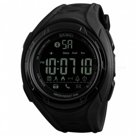 SKMEI 1316 50m Waterproof  Pedometer Calorie and Low Battery Indication Men's Digital Sports Watch - Black