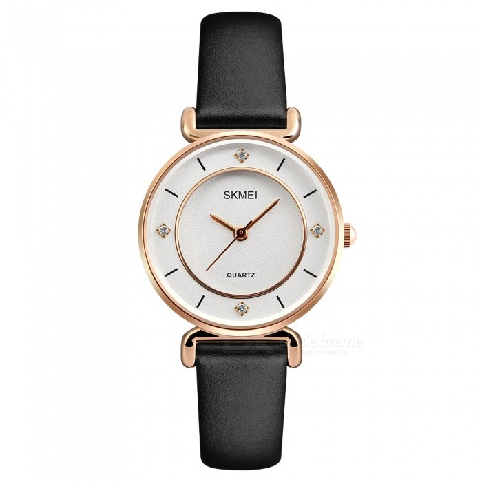 SKMEI 1330 30m Waterproof Leather Band Womens Quartz Watch - Rose GoldWomens Dress Watches<br>ColorRose GoldModel1330Quantity1 DX.PCM.Model.AttributeModel.UnitShade Of ColorGoldCasing MaterialZINC AlloyWristband MaterialLeatherGenderWomenSuitable forAdultsStyleWrist WatchTypeFashion watchesDisplayAnalogMovementQuartzDisplay Format12 hour formatWater ResistantWater Resistant 3 ATM or 30 m. Suitable for everyday use. Splash/rain resistant. Not suitable for showering, bathing, swimming, snorkelling, water related work and fishing.Dial Diameter3.6 DX.PCM.Model.AttributeModel.UnitDial Thickness0.9 DX.PCM.Model.AttributeModel.UnitBand Width1.2 DX.PCM.Model.AttributeModel.UnitWristband Length22 DX.PCM.Model.AttributeModel.UnitBattery1 x SR626SWPacking List1 x SKMEI 1330 Watch<br>