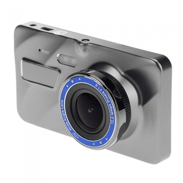 KELIMA A10 HD 4 Inches Screen Display Dual Lens 1080p Car DVR Driving RecorderCar DVRs<br>ColorGrayModelA10Quantity1 DX.PCM.Model.AttributeModel.UnitMaterialABSChipsetOthers,Jerry 5601Other FeaturesOthersWide Angle120°-149°Camera Lens2Image SensorCMOSCamera Pixel1.3MPWide Angle140°Screen TypeTFTScreen SizeOthers,4ISOOthers,100.200.400.Exposure CompensationOthers,0/-1/-2/-3/+3/+2/+1/0White Balance ModeAutoVideo FormatAVIDecode FormatH.264Video OutputHDMIVideo ResolutionOthers,1280*720/1920*1080/640*480/1920*1296Video Frame Rate25,30ImagesJPGStill Image ResolutionOthers,1280*720Audio SystemMonophonyMicrophoneYesMotion DetectionYesAuto-Power OnYesG-sensorYesLoop RecordOthers,1/3/5Delay ShutdownYesTime StampYesBuilt-in Memory / RAMNoMax. Capacity32GBStorage ExpansionTFAV InterfaceMini HDMIData interfaceMini USBWorking Voltage   12-24 DX.PCM.Model.AttributeModel.UnitBattery Capacity300 DX.PCM.Model.AttributeModel.UnitMenu LanguageOthers,Chinese / English / Japanese / French / ItalianPacking List1 x DVR1 x Rearview camera1 x Car charger1 x Bracket1 x  User manual1 x Screws<br>