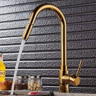 Buy Brass Pull-out/Pull-down 360 Degree Rotatable One-Hole Kitchen Faucet Ceramic Valve, Single Handle